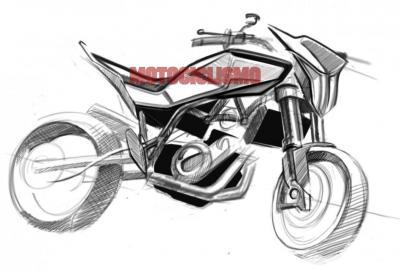 Husqvarna 900 2012: i bozzetti e il motore della nuova motard