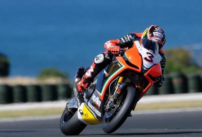 Superbike Phillip Island, Australia 2012, Gara 1: Max Biaggi vince in solitaria su Aprilia