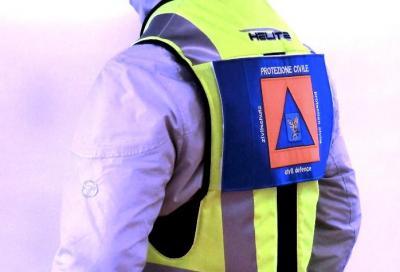 La protezione Civile friulana indossa il gilet airbag Helite