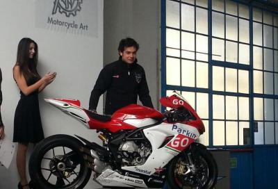 Presentata la MV Agusta F3 del team ParkinGO. La F4 va in SBK