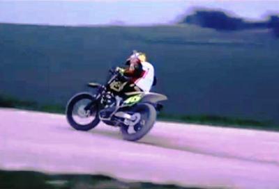 Valentino Rossi battuto da Pasini nell'EnduRanch