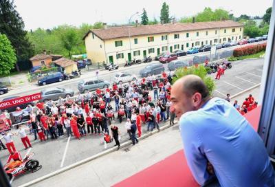 Ducati omaggia il nuovo AD Domenicali a colpi di gas!