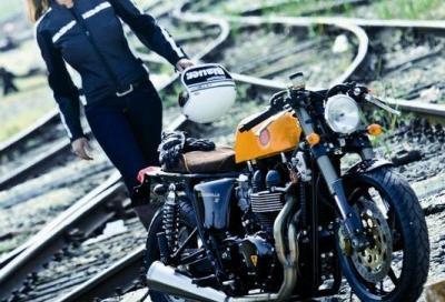 Da UOMO moto effetto invecchiato Hooligan Giacca in pelle bikers casual moda vintage