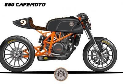 KTM 690 Enduro R diventa café racer nelle mani Roland Sands