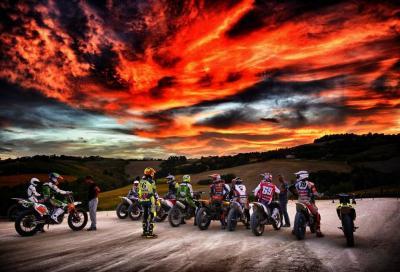 Rossi, Hayden, Petrucci, Pasini: amici di traverso al ranch