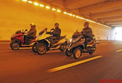 Peugeot, Piaggio, Quadro: test strumentale di maneggevolezza