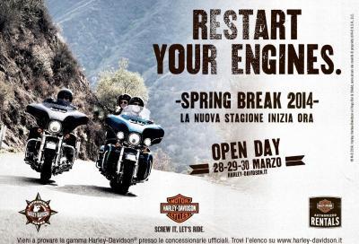 Harley-Davidson Spring Break 2014: test ride dal 28 al 30 marzo