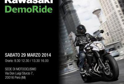 Kawasaki: il 29/3 i demo ride partono dalla sede di Motociclismo