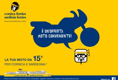 Corsica e Sardegna in moto: il traghetto a partire da 15 euro