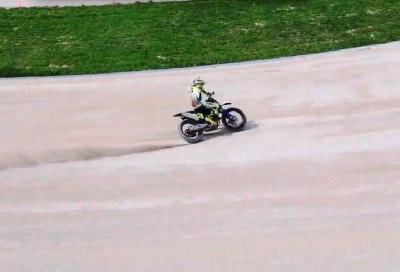 Valentino Rossi al ranch: video on board e… dal cielo