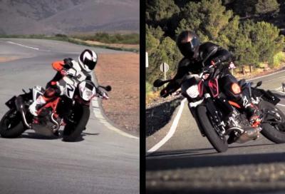 KTM Duke 690 e R: in video in pista e su strada