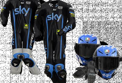 Tute e caschi del Team di Valentino Rossi in palio con Sky