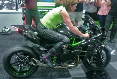 Kawasaki Ninja H2R: video emozioni sonore e tecnologia