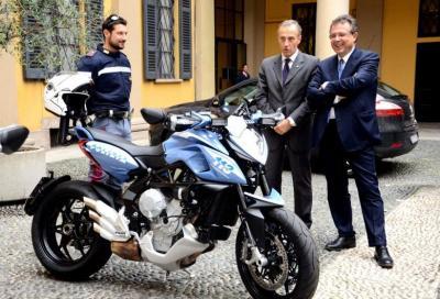 MV Agusta Rivale 800 per la Polizia di Milano