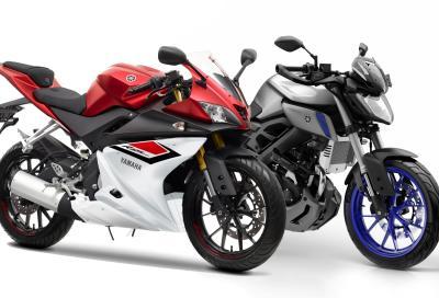 Yamaha YZF R125 e MT125: più belle e sicure, pronte per il 2015