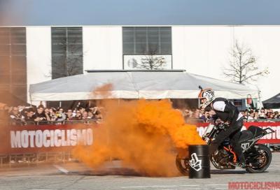 Rok Bagoros e KTM 690 Duke stunt party a Eicma e in Slovenia