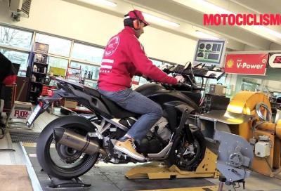 Honda Crossrunner 2015: video della prova al banco