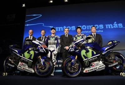 Yamaha presenta in live streaming la M1 2015 di Rossi e Lorenzo