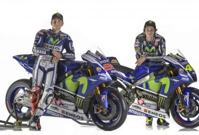 Yamaha M1 2015 di Rossi e Lorenzo: mega gallery e video