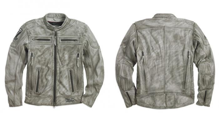 sale retailer df77c 90b6b Giubbotto vintage in pelle Harley-Davidson Black Label Grey ...