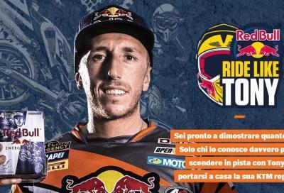 """""""Red Bull like a Tony"""": vinci un giorno con Cairoli e una KTM"""