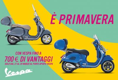 Vespa: test ride e porte aperte fino al 29 marzo