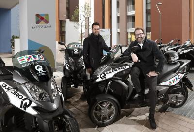 Quadro3 è lo scooter a tre ruote ufficiale di Expo 2015