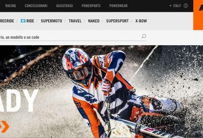 Il nuovo sito KTM è online: tutto a portata di click