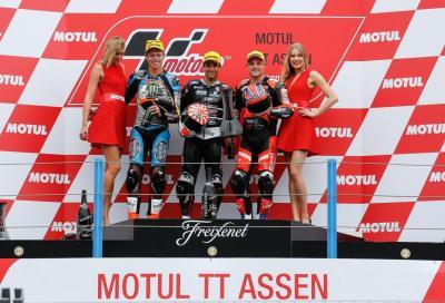 In Moto2 2015, Zarco si impone su Rabat anche ad Assen
