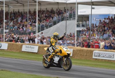 In sella con Valentino Rossi al Goodwood Festival of Speed 2015