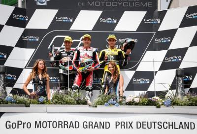 Simeon vince la Moto2 2015 in Germania, Zarco 2°. Morbidelli e Rabat KO