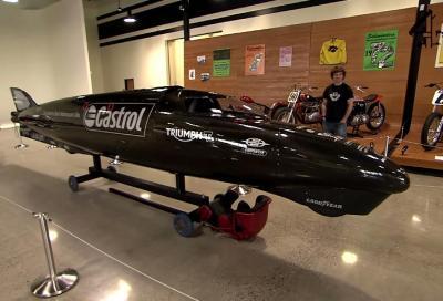 Una Triumph da 1.000 CV e Guy Martin a caccia del record di velocità