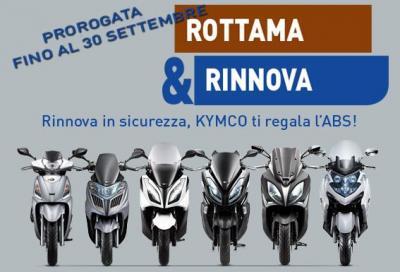 """Kymco """"Rottama e Rinnova"""": la promozione viene prorogata fino a settembre"""
