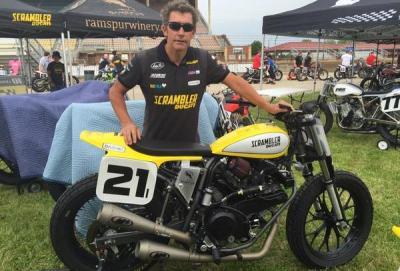 "Troy Bayliss torna in gara con la ""Scrambler"" nel flat track"