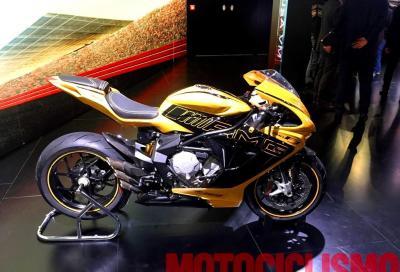 MV Agusta F3 800 in giallo e nero, ispirata alla AMG GT