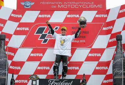Zarco festeggia il titolo mondiale Moto2 2015 vincendo a Motegi