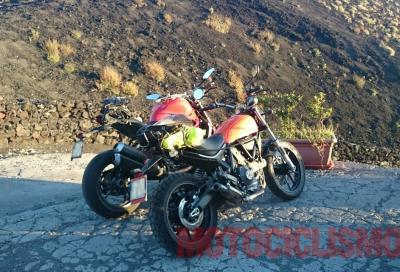 Foto spia della nuova Ducati Scrambler 400 2016
