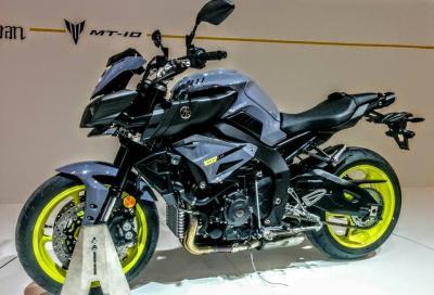 La Yamaha R1 si spoglia e diventa MT-10: il nostro video da Eicma