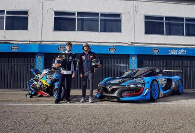 Tito Rabat in auto, Carlos Sainz sulla Honda CBR1000RR! Il video