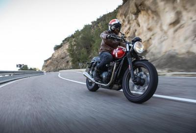 L'attore motociclista Charley Boorman presenta la Triumph Street Twin
