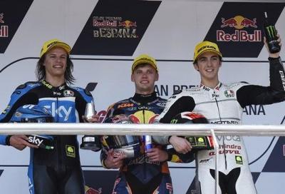 Grande Moto3 a Jerez: Binder parte ultimo e vince, Bulega 2°, Bagnaia 3°