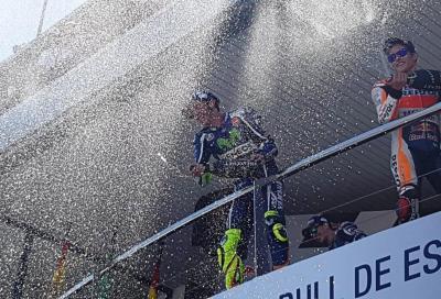 MotoGP, monologo di Rossi: a Jerez battuti Lorenzo e Marquez