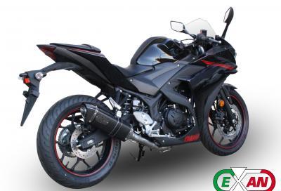 Yamaha R3: terminali e impianto di scarico completo Exan