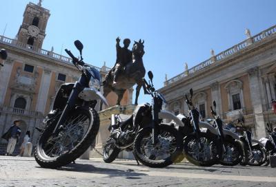 Yamaha per la polizia: 13 mezzi nuovi per i Caschi Bianchi di Roma