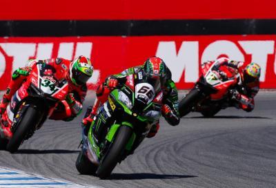 """Sykes domina e """"doma"""" le Ducati in Gara 2 a Laguna Seca. Rea out"""