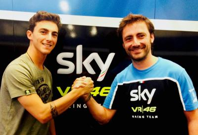 Francesco Bagnaia con SKY Racing Team in Moto2 nel 2017