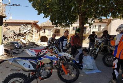 Anche i motociclisti tra i soccorritori nelle zone colpite dal sisma