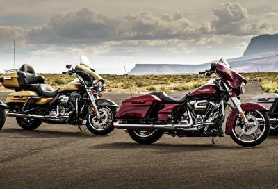 Nuova gamma Harley-Davidson Touring 2017: info, foto e video
