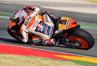 Marquez in pole: in Aragona prima fila spagnola, poi il Dovi. 6° Rossi