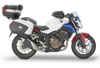 Novità Givi per Honda CB500F: valigie, bauletto e cupolino... luminoso